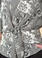 Knit&Co Ön Bağlamalı Choker Yaka Bluz Siyah